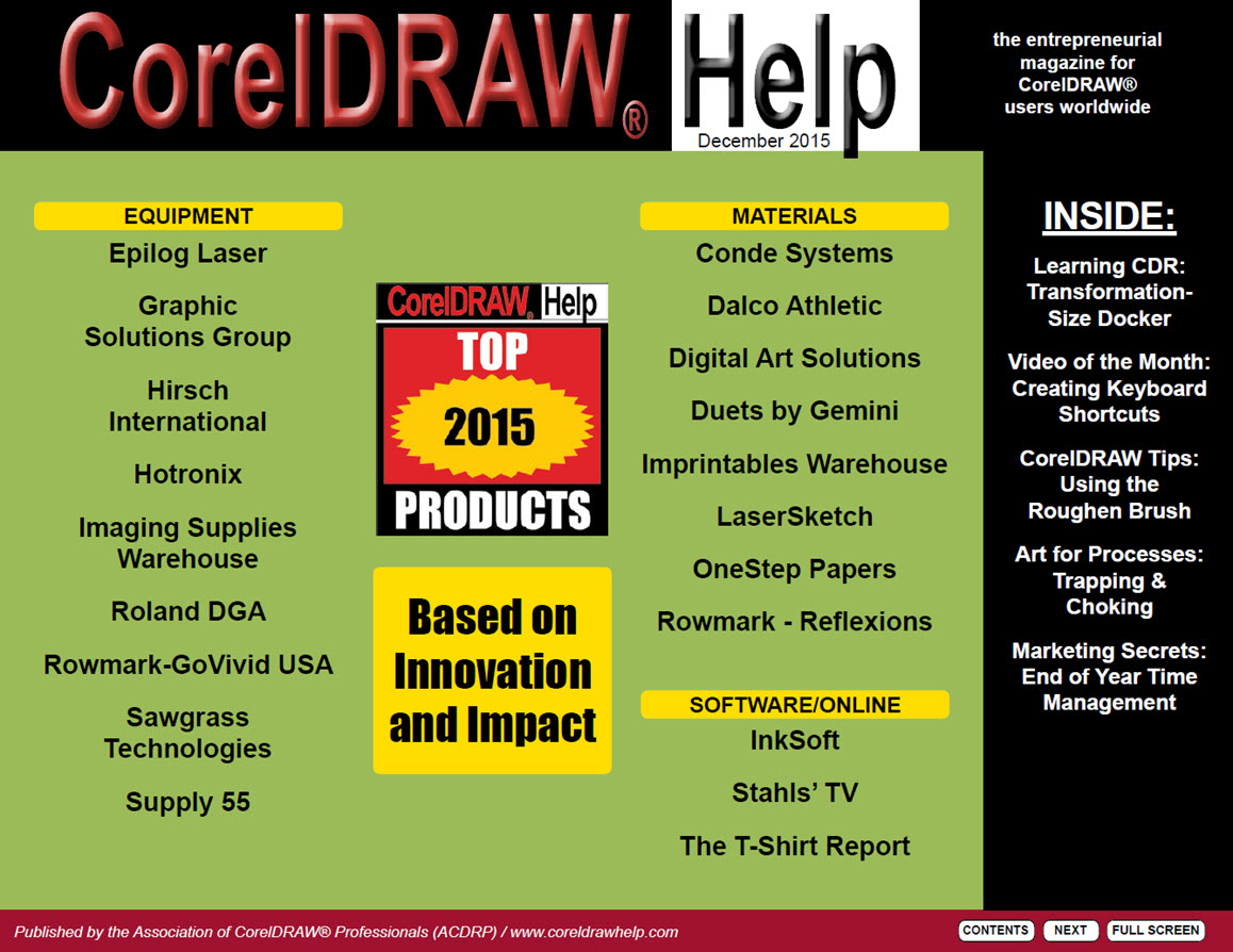 CorelDRAW Help Magazine - December 2015