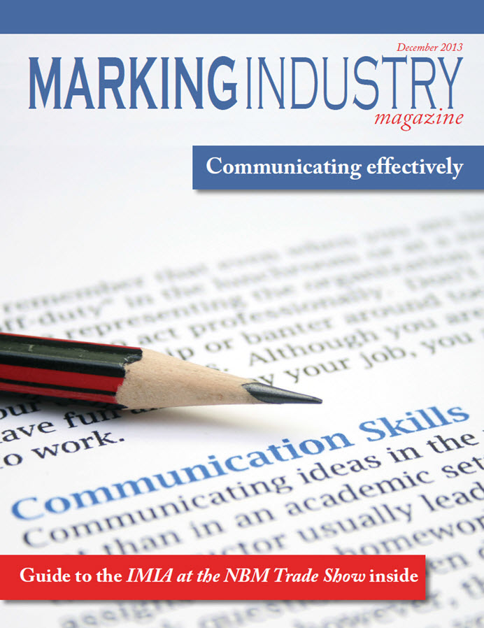 Marking Industry Magazine - December 2013