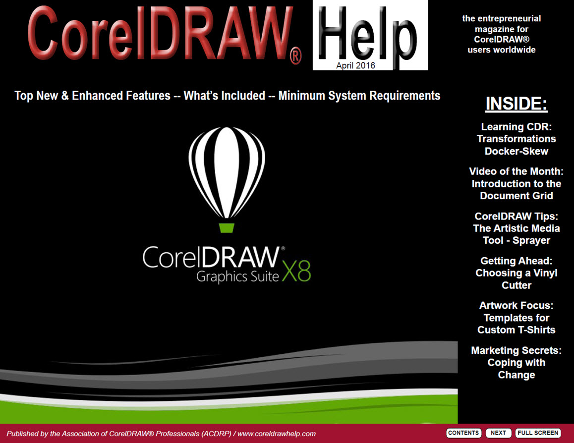 CorelDRAW Help Magazine - April 2016