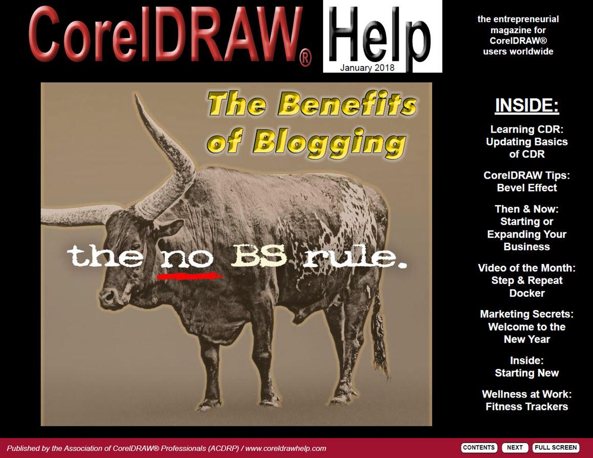 CorelDRAW Help Magazine - January 2018