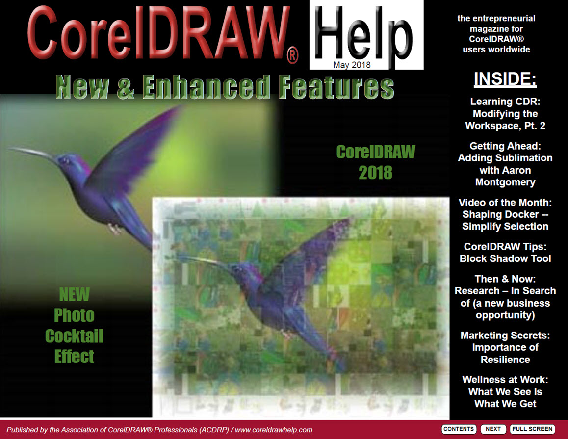 CorelDRAW Help Magazine - May 2018